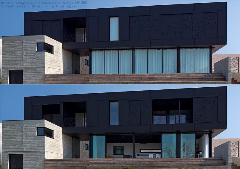 La maison noire blog alain rouschmeyer architecture for Architecture originale maison