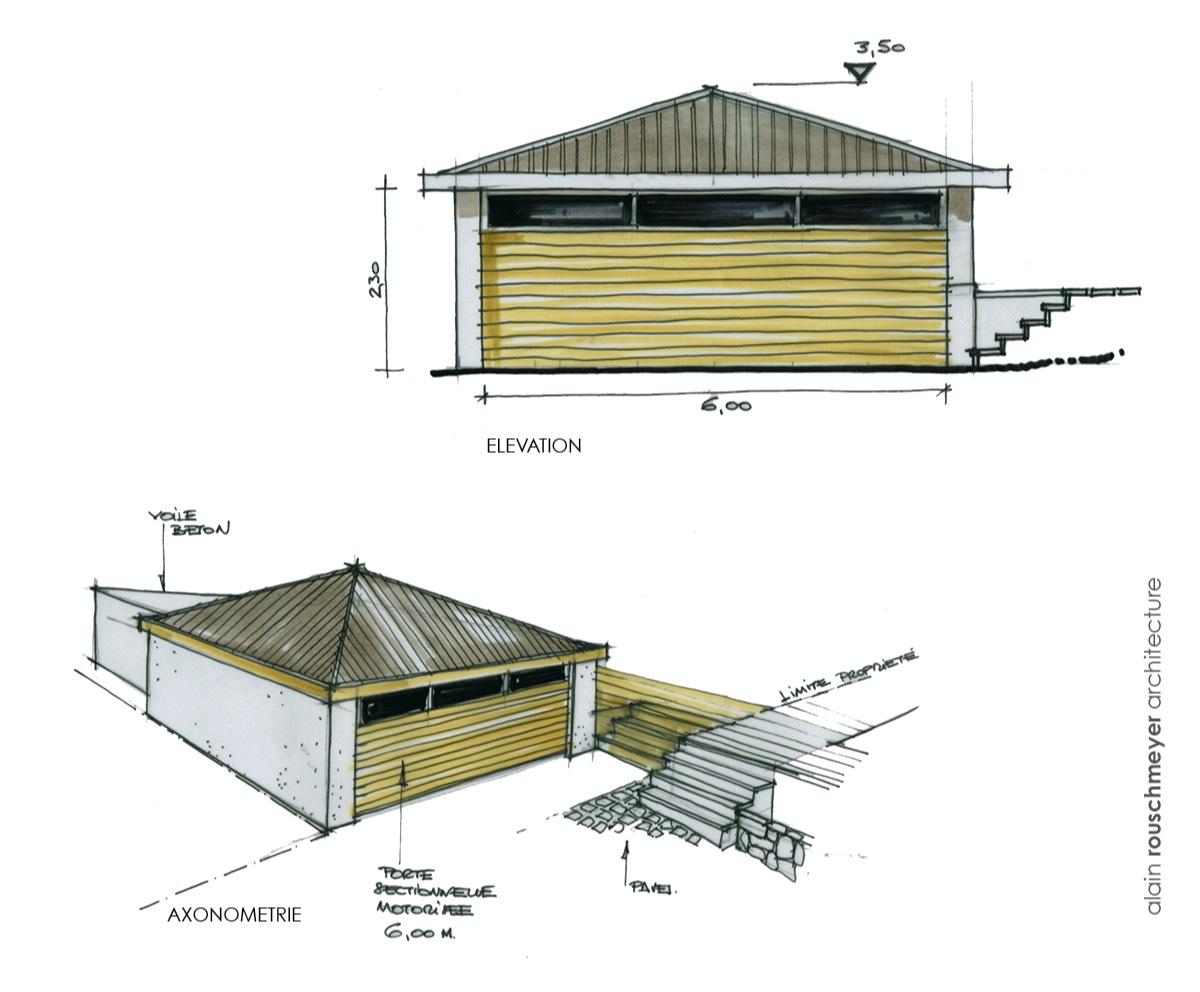Maison toute en longueur avec couloir de nage - Dimensions couloir de nage ...